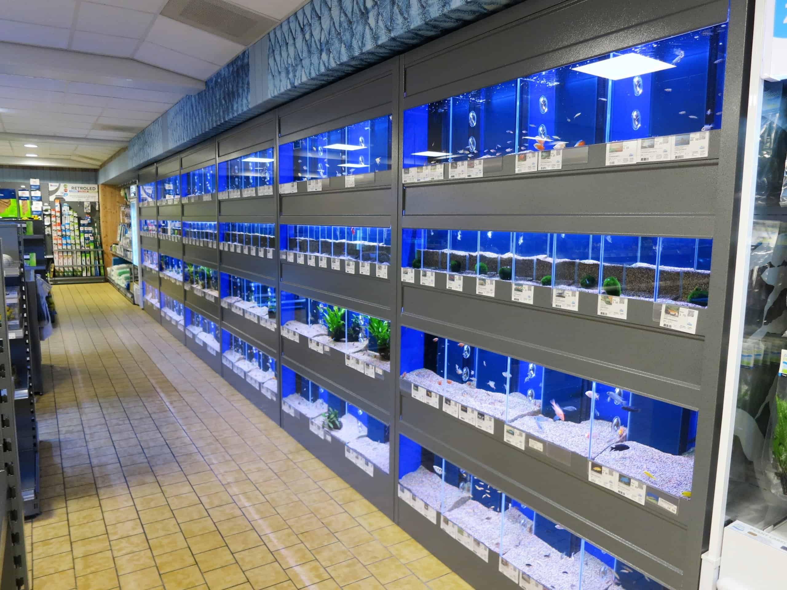 aquarium stelling a-serie met kleppen